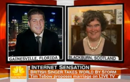 Susan Boyle Accepts Tim Tebow's Marriage Proposal on LIVE TV